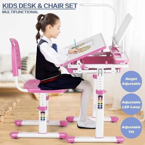 Height Adjustable Children's Desk & Chair Set