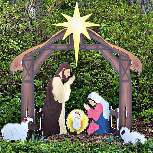 Holy Night Outdoor Nativity Set - Outdoor Christmas Nativity Scenes