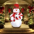 Inflatable Christmas Snowman with Hat Decor - Inflatable Outdoor Christmas Decorations