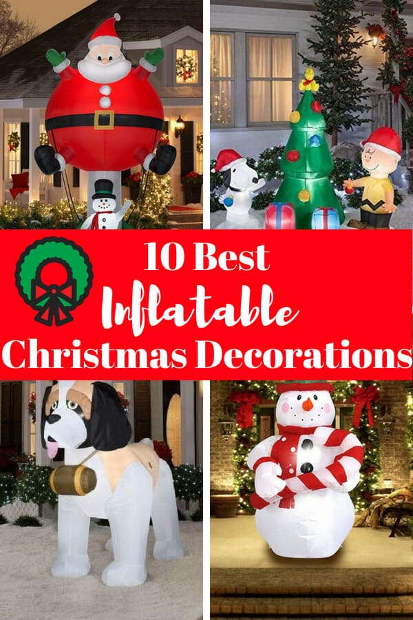 inflatable outdoor christmas decorations