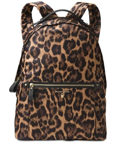 Michael Kors Kelsey Large Leopard Backpack