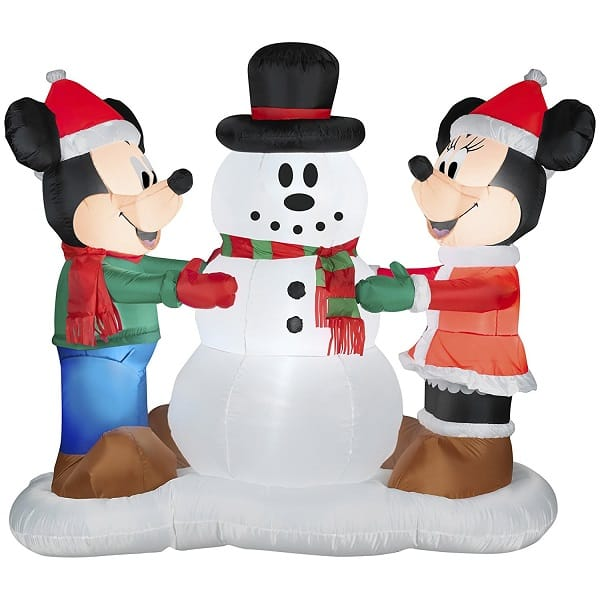 Mickey and Minnie Disney Inflatable Outdoor Christmas Decorations