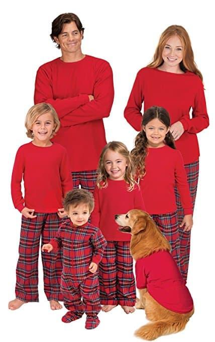 PajamaGram Red Flannel Plaid Matching Family Christmas Pajamas #christmaspajamas