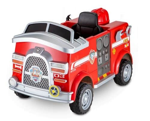 Paw Patrol Fire Truck Ride On Toy, Marshall rescue