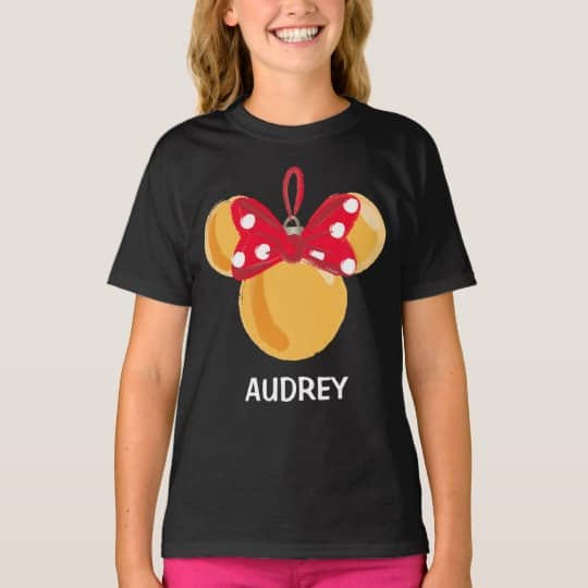 Personalized Minnie Mouse Christmas T-Shirt