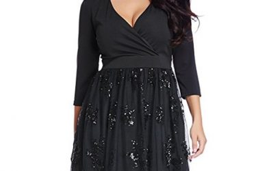 Plus Size Sequin Cocktail Dress - Plus Size Christmas Party Dresses