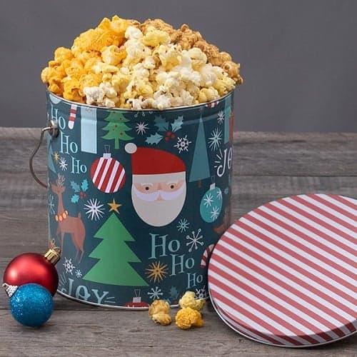 Santa Claus Gourmet Popcorn Tin