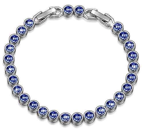 Tennis Bracelet Made with Swarovski Crystals