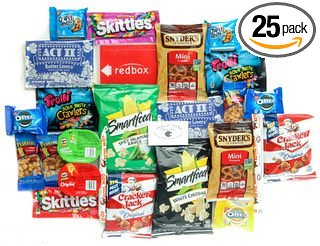 Ultimate Movie Night Care Package Full of Delicious Snacks and Redbox Rental Code