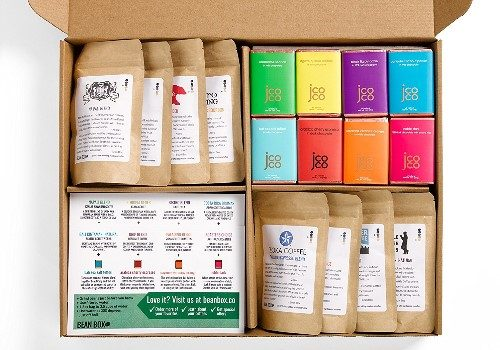 Bean Box Gourmet Coffee and Chocolate Deluxe Gift Box