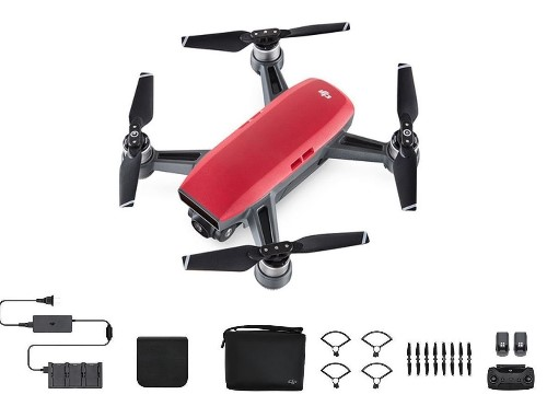 DJI Spark Fly More Combo, Lava Red