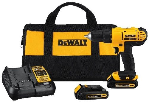 Dewalt 20V MAX Cordless Lithium Ion Compact Drill Driver Kit