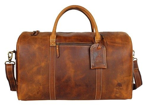 Handcrafted Genuine Buffalo Leather Travel Duffel Bag