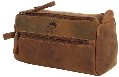 Handmade Genuine Buffalo Leather Toiletry Bag