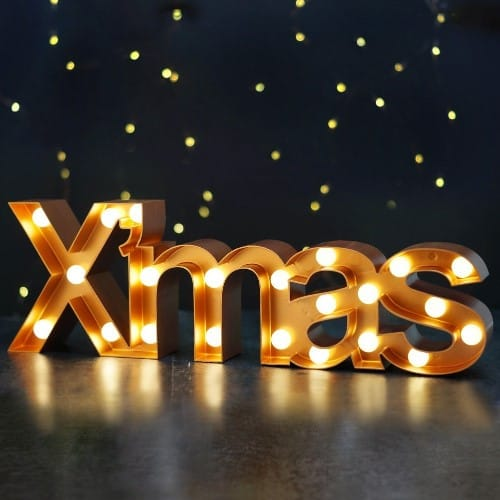 Large XMAS Christmas Marquee Sign