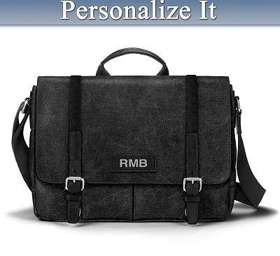 Men's Personalized Canvas Messenger Bag