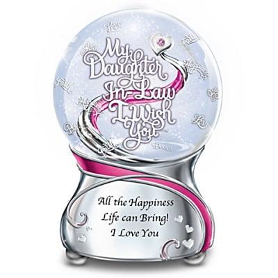 My Daughter-In-Law Musical Glitter Globe