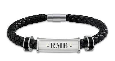 Personalized Leather Men's Bracelet