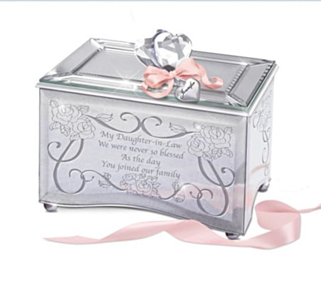 Personalized Mirrored Music Box For Daughter-In-Law