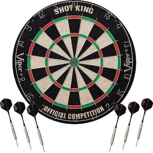 Viper Shot King Dartboard with 6 Darts