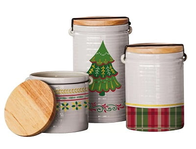 Christmas Kitchen Canisters