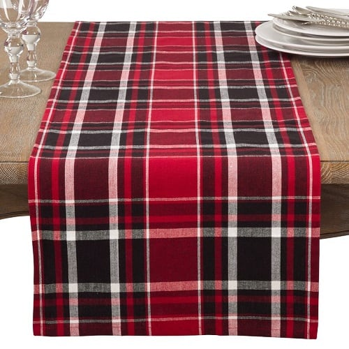 Plaid Table Runner made from cotton. Looks fabulous in Farmhouse decor