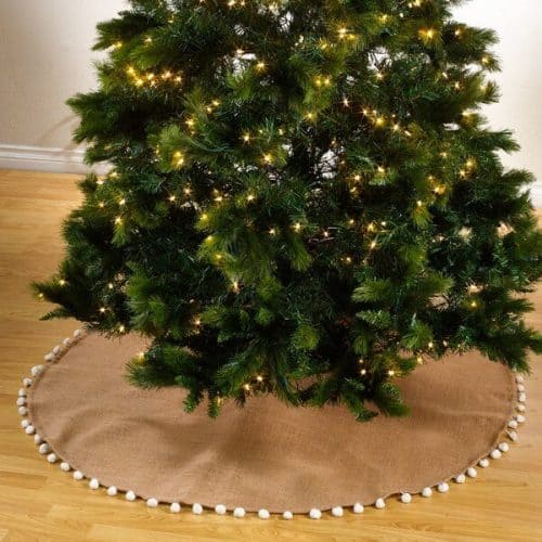Pompom Jute Christmas Tree Skirt