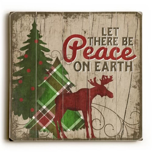 Reindeer Wall Art | Farmhouse Style Christmas Wall Decor