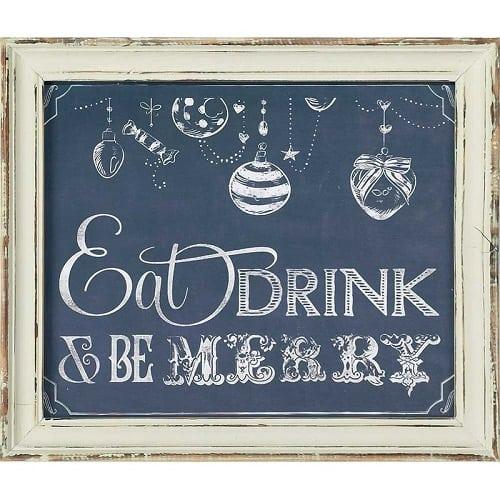 Chalkboard Christmas Sign