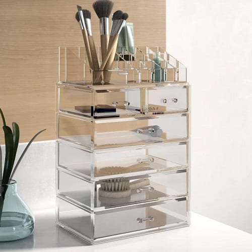 Makeup and Jewelry Cosmetic Organizer