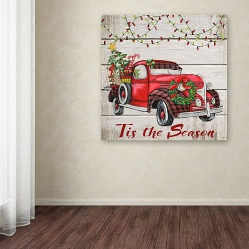 Vintage Christmas Truck Wall Art Sign #christmasdecor #farmhousechristmas
