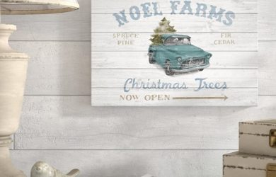 Vintage Christmas Wood Sign
