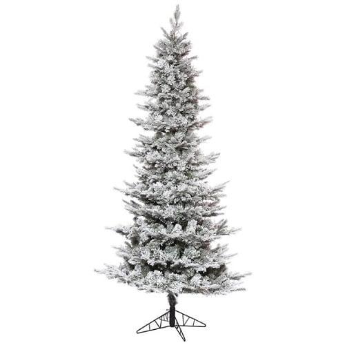 12 ft Slim Flocked Fake Christmas Tree
