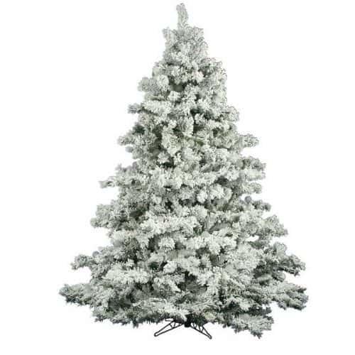 6.5' Flocked Alaskan Christmas Tree