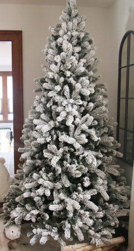 7.5 Ft Heavily Flocked Christmas Tree - Unlit