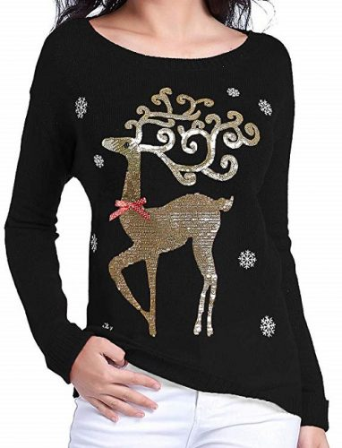 Black and Gold Christmas Sweater