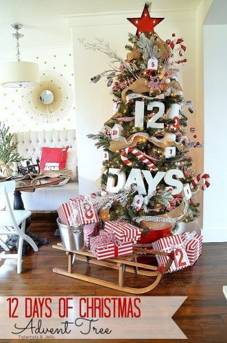 12 Days of Christmas Advent Tree