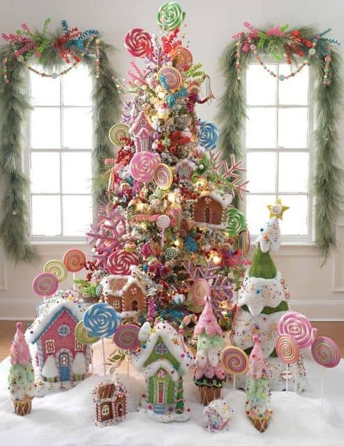 Candy and Lollipop Christmas Tree