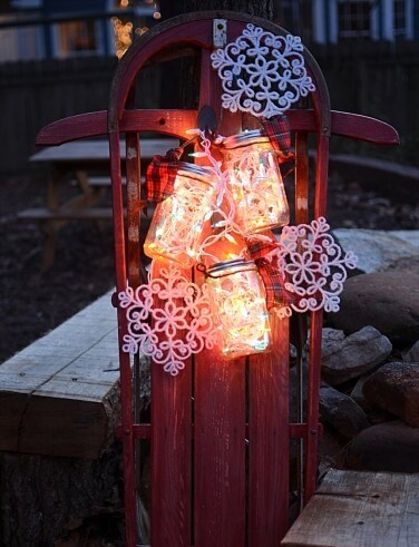 Christmas Mason Jar Light DIY