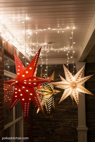 DIY Star Luminaries - Hanging Star Lanterns
