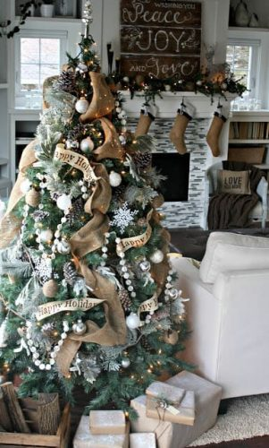 Natural Woodsy Christmas Theme