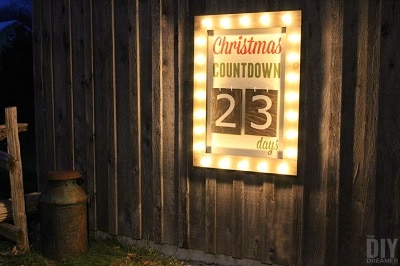 Outdoor Christmas Countdown Sign