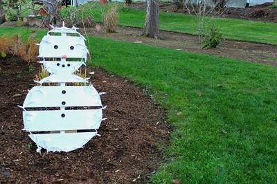 Pallet Snowman DIY
