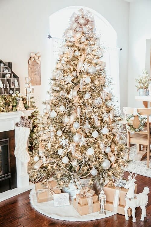 Stunning Silver and Gold Christmas Tree