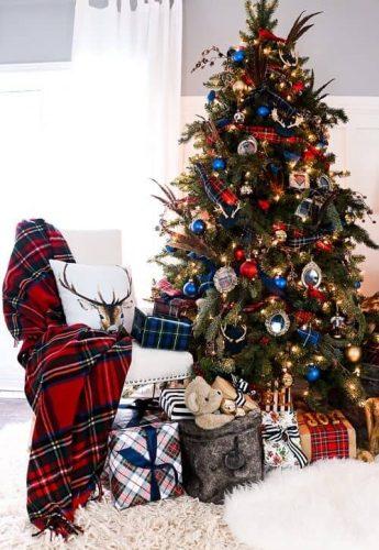 Tartan and Plaid Christmas Tree Theme