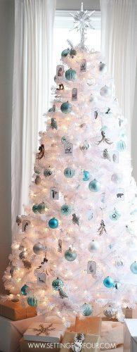 Winter Woodland Glam White Christmas Tree