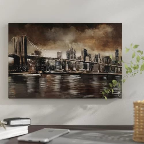 Brooklyn Bridge Wall Art | New York Themed Gifts #newyork #giftguide