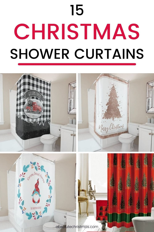 Christmas Shower Curtains - The Best Christmas Shower Curtains to Decorate Your Bathroom #christmasdecor #christmasbathroom