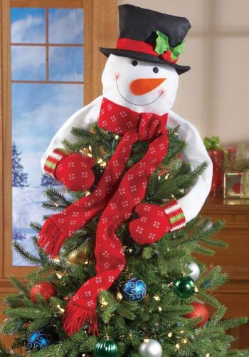 Christmas Snowman Top of the Tree Hugger