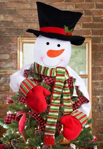 Christmas Tree Topper Snowman Hugger